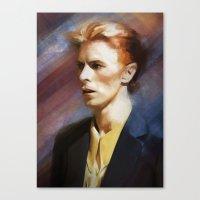 bowie Canvas Prints featuring Bowie by Cristina Sandia