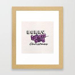 Happy berry christmas III Framed Art Print
