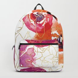 Hot Gold Floral Backpack