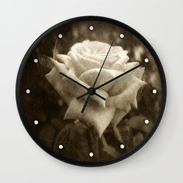 Pink Roses in Anzures 6 Antiqued Wall Clock