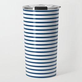 Sailor Stripes Navy & White Travel Mug