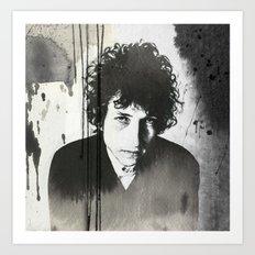 Bob Dylan B&W Art Print