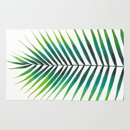 Tropical Palm Leaf #1   Watercolor Painting Rug