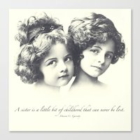 sisters Canvas Prints featuring Sisters by Carol Knudsen Photographic Artist