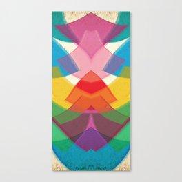 Stunning Rainbow Symmetrical Abstract Art Canvas Print