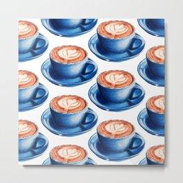 Latte I : Food Series Metal Print