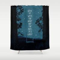 child Shower Curtains featuring Heart of a Child by Schwebewesen • Romina Lutz