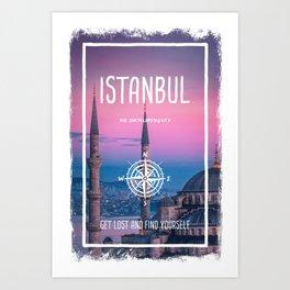 Istanbul, Turkey, the encyclopedia city Art Print