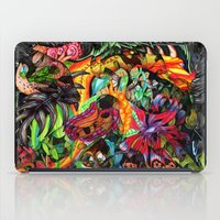 jazzberry iPad Cases featuring Just another day in the jungle by Donuts