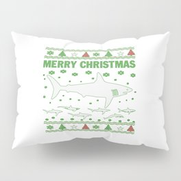 Shark Christmas Pillow Sham