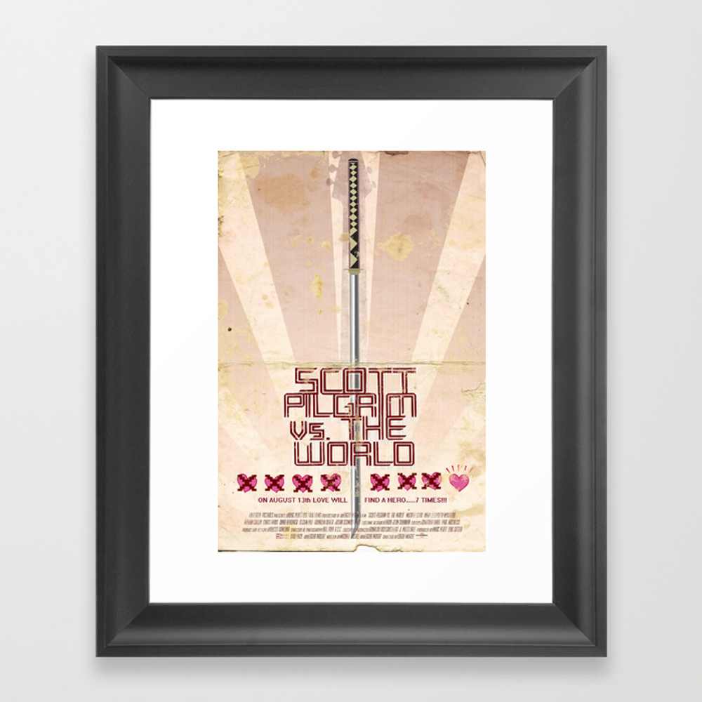 Scott Pilgrim Vs. The World Framed Art Print by Dukedastardly FRM524565