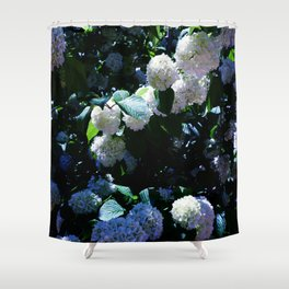 Blue Snowballs II Shower Curtain