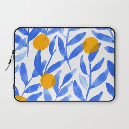 Tropical Lemons / Blue and Yellow Refreshing Lemon Print / Abstract Lemon Vibes / Summer Lemons Laptop Sleeve