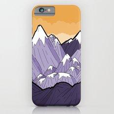 Mountains under the orange sky iPhone 6s Slim Case