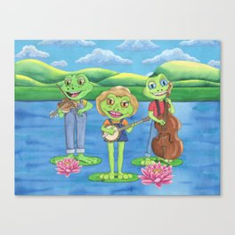 The Boggy Froggies Bluegrass Band Canvas Print