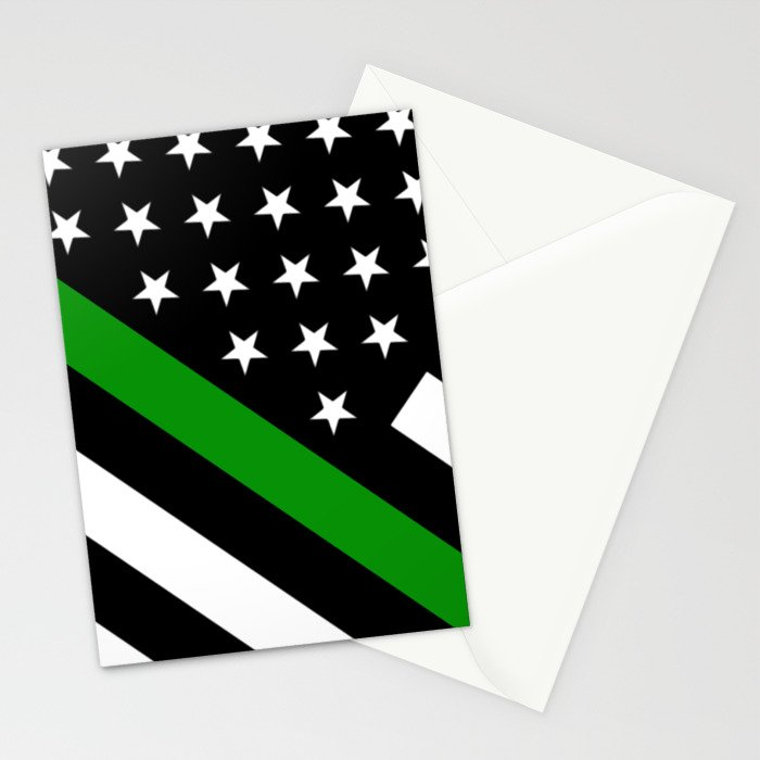 The Thin Green Line Flag Stationery Cards