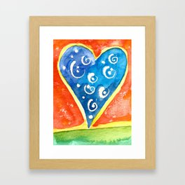 Heart I Framed Art Print
