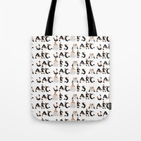 marc johns Tote Bags featuring Marc Jacobs by cvrcak
