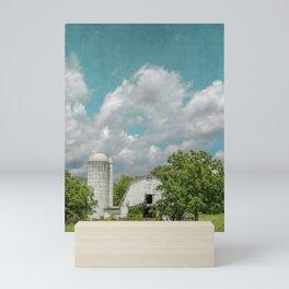 White Barn and Blue Sky Mini Art Print