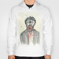 zombie Hoodies featuring Zombie! by Chris Gauvain