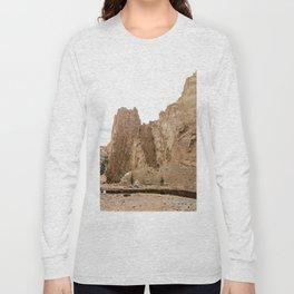 Smith Rock Oregon Desert Sunset - Nature Photography Long Sleeve T-shirt