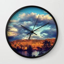 Wisconsin River Wall Clock