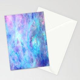 Bright Tarantula Nebula Aqua Lavender Periwinkle Stationery Cards