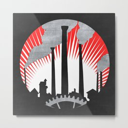 Industrial Revolution Poster Metal Print