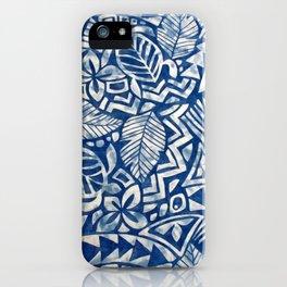 Hawaiian tribal pattern iPhone Case