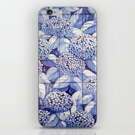 Floral tiles iPhone Skin