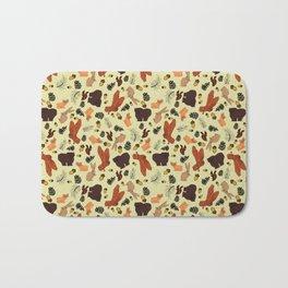 Woodland Animal Pattern Bath Mat