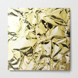 Gold foil Metal Print