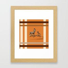 Butterscotch Stripes Framed Art Print