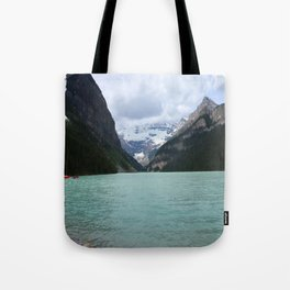 Lake Louise From The Eastern Shore Tote Bag