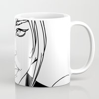 supergirl Mugs featuring New 52 Supergirl by Jeremy Gonzalez