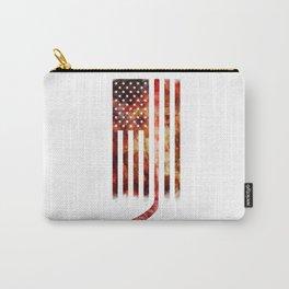 Ice Hockey USA Flag Carry-All Pouch