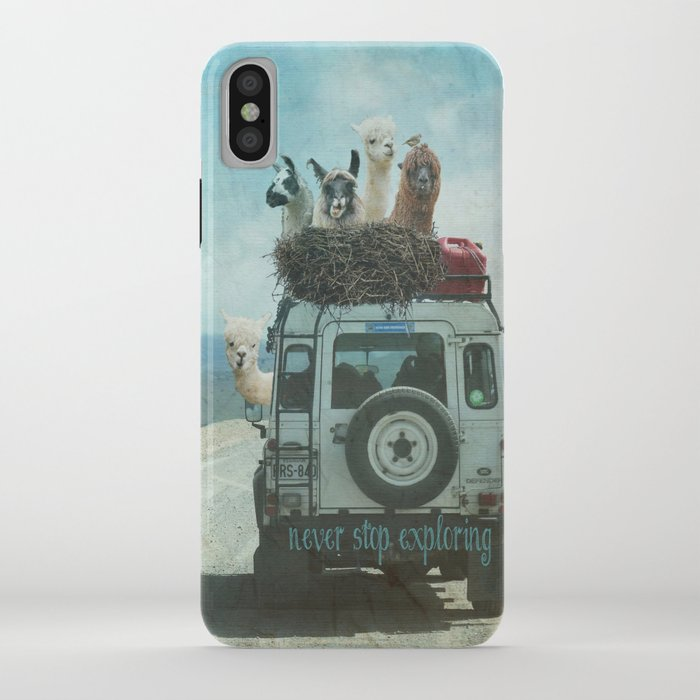 never stop exploring ii summer edition iphone case