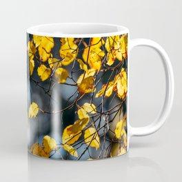 Yellow And Orange Autumn Tree Leaves In Fall Season, Autumn Season, Fall Background, Falling Leaves Coffee Mug