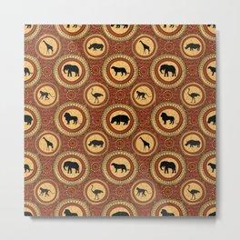 African jungle animals pattern Metal Print
