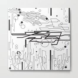 Dynamic Design Metal Print