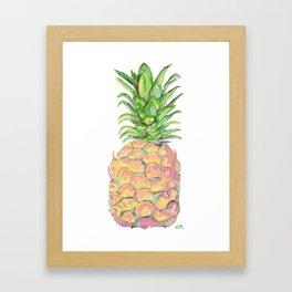 Brite Pineapple Framed Art Print