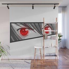 Red rage eyes Wall Mural