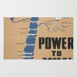 Vintage poster - Tennessee Valley Authority Rug