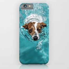 Jack Russell Terrier Swimming iPhone Case