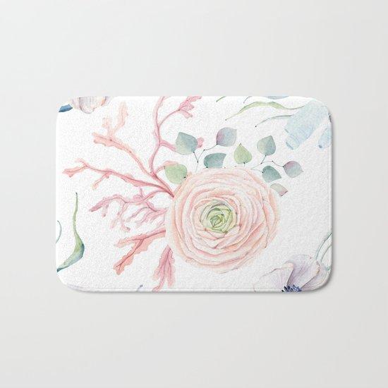 Ocean blossom Bath Mat