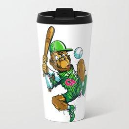 Baseball Monkey - Lime Travel Mug
