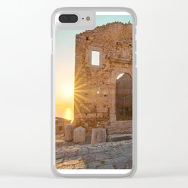 Temples of Hercules Clear iPhone Case