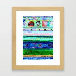 VHS[glitch] Framed Art Print
