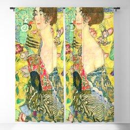 """Gustav Klimt """"Lady with fan"""" Blackout Curtain"""