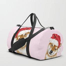 Christmas Shiba Inu Duffle Bag